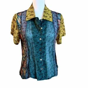 Citron Mixed Print Blouse
